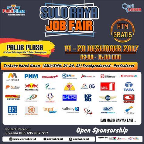solo job fair desember  jadwal event info pameran