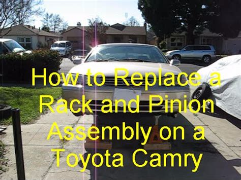 how to replace a rack and pinion assembly on a toyota