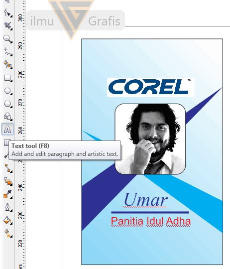 tutorial membuat id card dengan photoshop membuat id card di corel tutorial coreldraw 11 12 x3 x4 x5