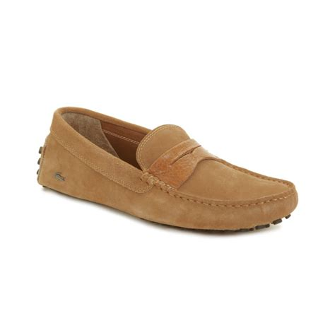 lacoste loafers sale lacoste concours suede loafers in brown for light