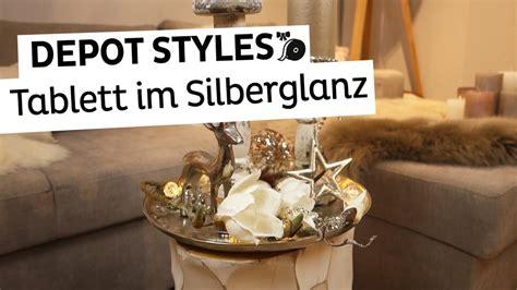 Weihnachtsdeko Fensterbank Silber by Depot Styles Dekotablett Im Silberglanz Weihnachtsdeko