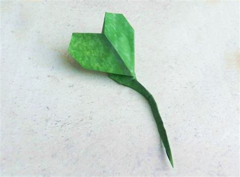Origami Stem And Leaf - joost langeveld origami page