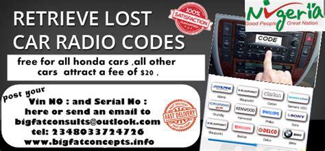 anti theft code for honda civic radio honda car stereo unlock code autos nigeria