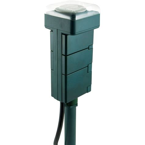 Outdoor Electrical Timers For Lights Jasco Products Outdoor Stake Timer 29972 The Home Depot