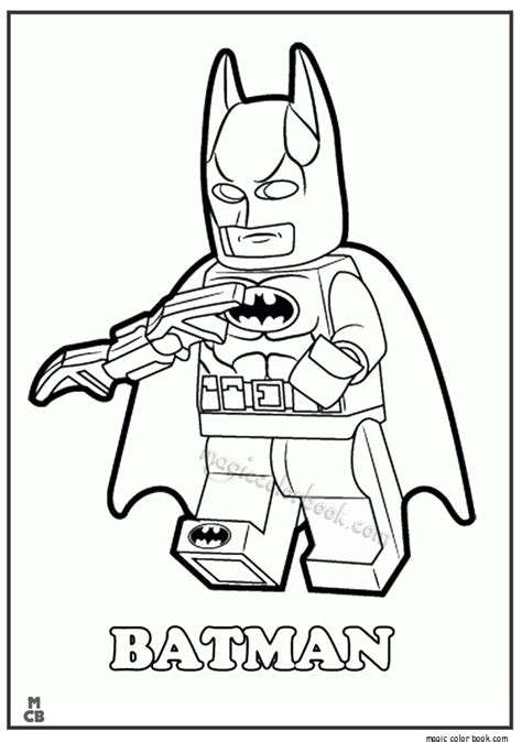 lego batman front view with cape coloring page preview