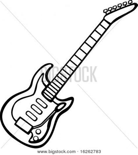 Electric Guitar Drawing Template