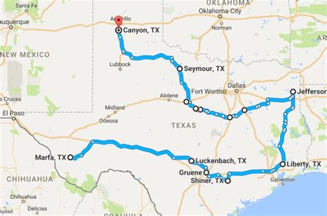 texas hill country road trip map the ultimate small town texas road trip