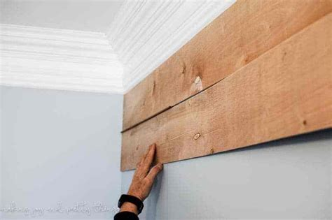 Diy Wood Plank Wall With Plywood