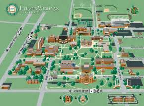 illinois wesleyan cus map