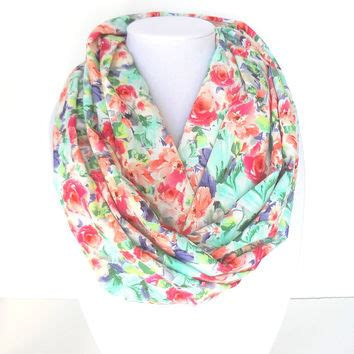 Syal Scarf Bicycle With Roses 1 floral scarf printed scarf from fashionelle studio