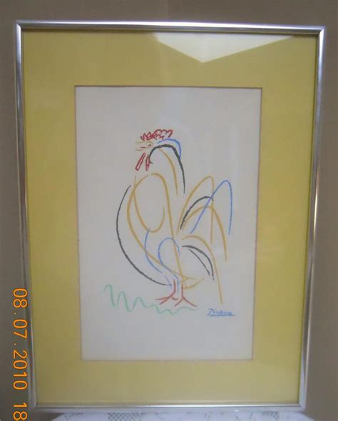 picasso paintings to print framed quot rooster quot by pablo picasso print beautiful