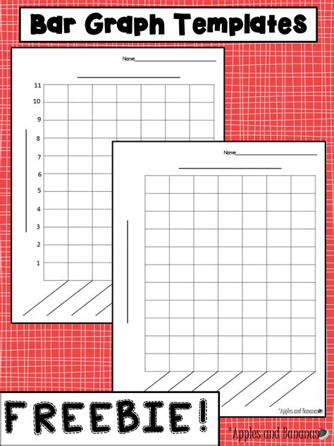 free bar graph templates with and without a scale for a