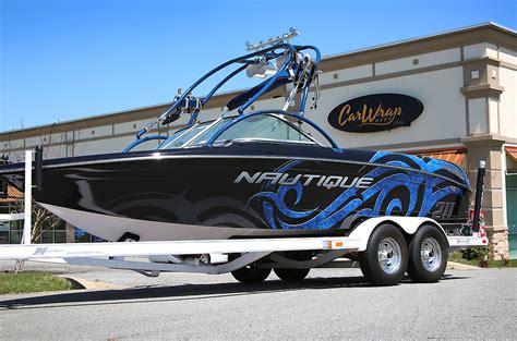 nautique full wrap boat car wrap city - Nautique Boat Wraps