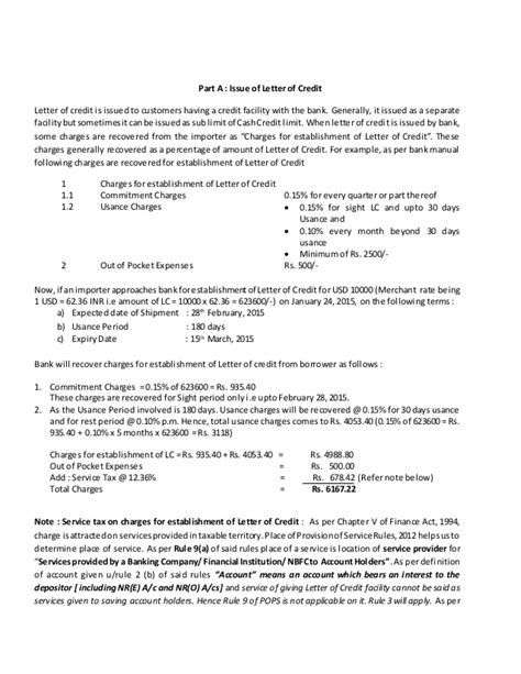 Letter Of Credit Facility Letter Of Credit Article
