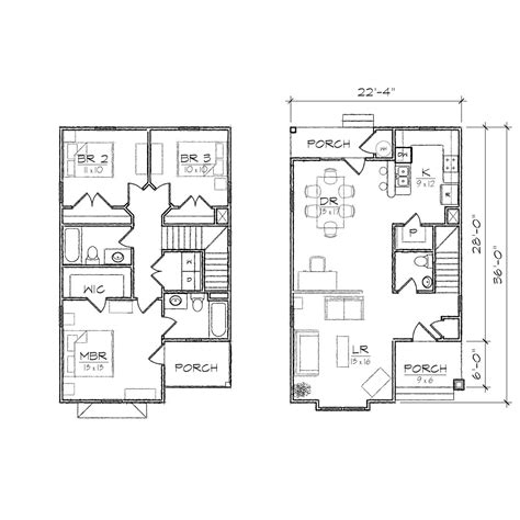 narrow house floor plan ii floor plan tightlines designs