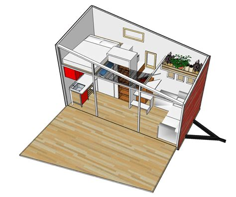 tiny house floor plans small residential unit 3d floor blake s tiny house overview
