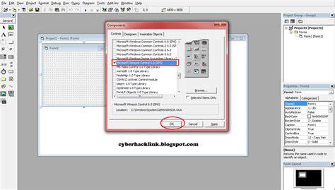 membuat hyperlink di vb6 cara membuat inject menggunakan vb6 lengkap dengan gambar