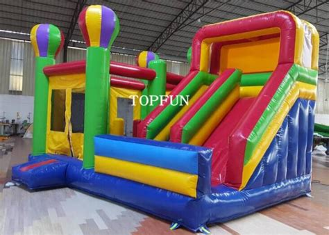 Quality Happy Hop Castle Bouncer 9112 happy hop jumping castle with slide for birthday oem