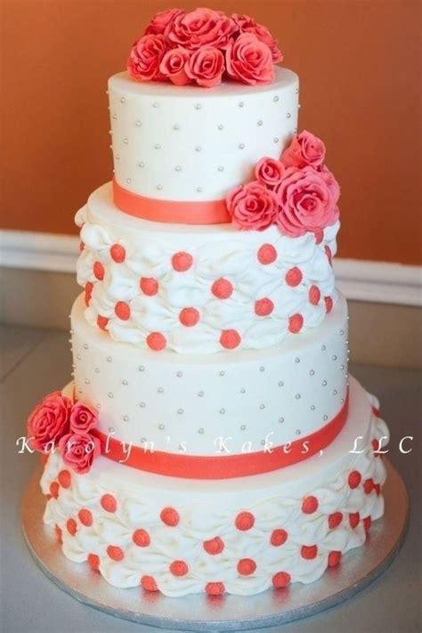 Hochzeitstorte Lachsfarben by Coral Wedding Cake Wedding Desserts