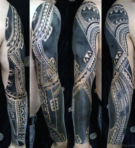 full sleeve tribal tattoo 70 fabulous tribal tattoos on sleeve