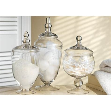 glass jars for bathroom three 3 glass apothecary jars mini candy buffet jars
