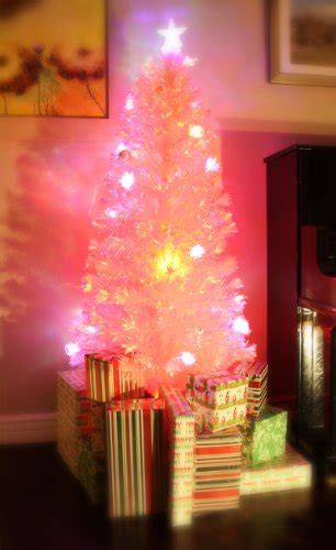 white fiberoptic trees with multi colored lights 6 ft pre lit multi color led lights fiber optic white tree with topper buy