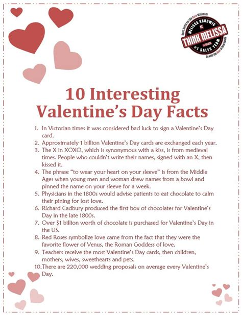 7 Facts On Valentines Day by Happy S Day From The Of Real Estate Think