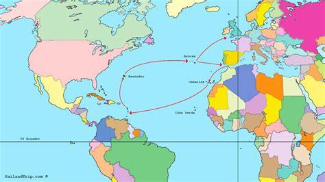 rutas de los barcos de cristobal colon cruzar el atl 225 ntico a vela rutas de navegaci 243 n en velero