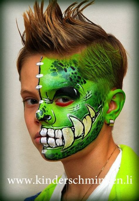 pin  connie arnold  face paint dragons dinosaurs