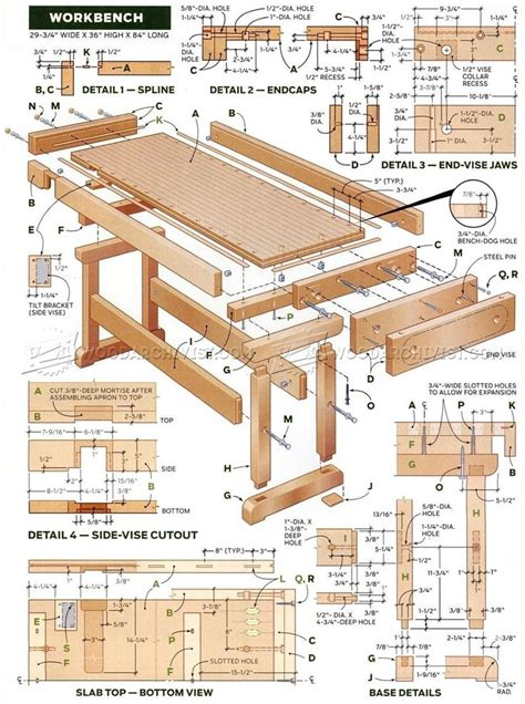 workbench plan workshop solutions woodworking
