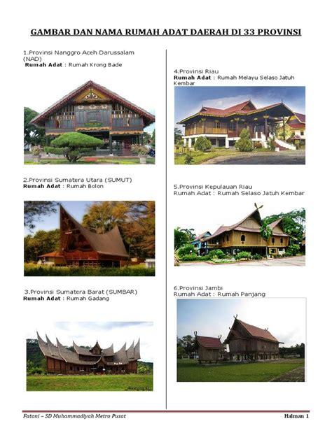 Air 2 Di Indonesia Beserta Spesifikasinya gambar dan nama rumah adat daerah di 33 provinsi