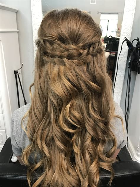 prom hairstyles with braids braided half up half down prom hair bombshell hair