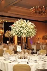 High Vase Centerpieces Tall Babys Breath Cloud Wedding Centerpiece