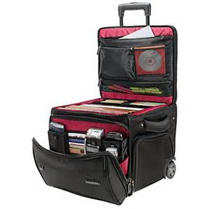 Laptop Desk On Wheels Ativa Mobil It Rolling Briefcase Ultimate Workmate 14 H X