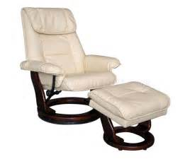 Modern Recliner Chair Taupe Or Brown Bonded Leather Modern Recliner Chair W Ottoman