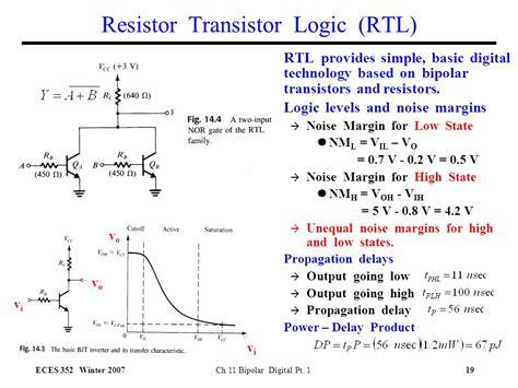 resistor transistor logic advantages ch 11 bipolar transistors and digital circuits ppt