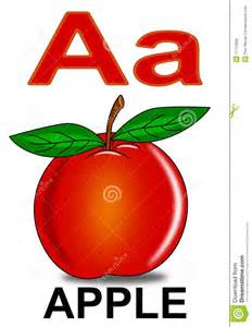 letter a apple stock photo image 17712830