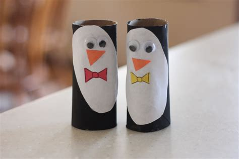 Penguin Toilet Paper Roll Craft - crafts from recycled tp rolls the honorable mention