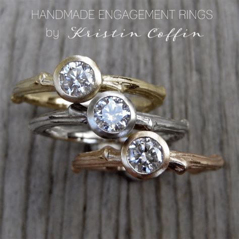 Handmade Engagement Rings by Handmade Engagement Rings Diamonds Moissanite Twigs