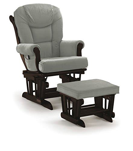 shermag espresso glider and ottoman combo shermag glider rocker combo espresso with grey furniture