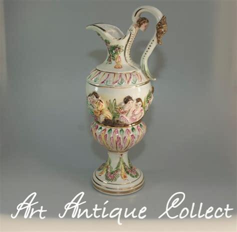capodimonte vase capodimonte vase keramik capo di monte majolika henkelvase