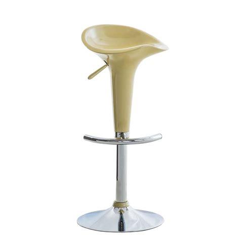 taburete regulable taburete de dise 241 o para cocina en color crema