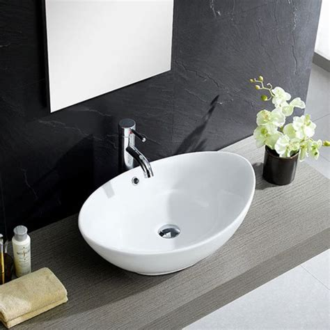 fine fixtures white vitreous china oval vessel sink 25 b 228 sta white vessel sink id 233 erna p 229 pinterest