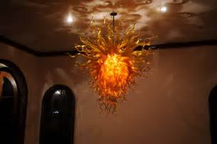 Orange Crystal Chandelier Gold Amber Orange Chandelier Art Glass Chandeliers Gallery