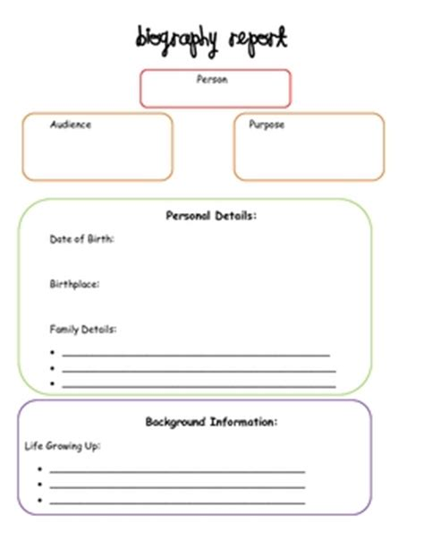 basic biography graphic organizer biography graphic organizer by creative classroom lessons