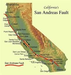 california earthquake faults map earthquakes cbell