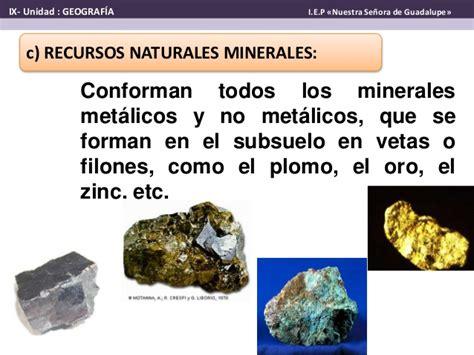 imagenes de minerales naturales recursos naturales