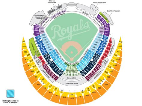 kauffman stadium map royals seating chart view pictures to pin on pinsdaddy