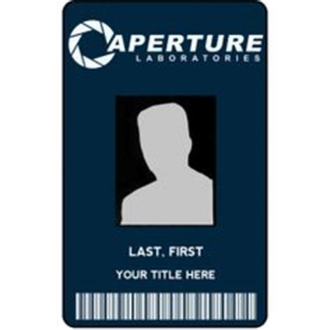 aperture science id card template school id card horizontal student id card design by
