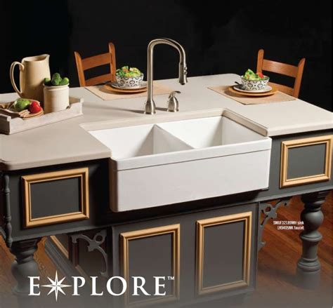 elkay fireclay farmhouse sink fireclay double country kitchen sink interior design decor